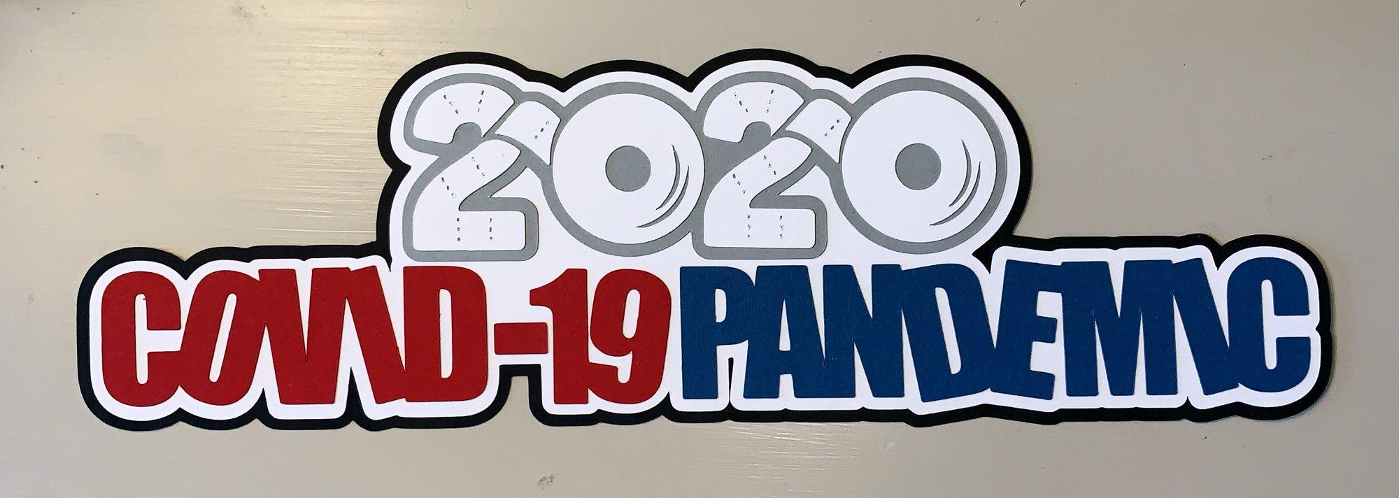 2020 Covid-19  Custom Die-cut