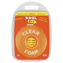 KOOL TAK 3D Foam Roll 1.6yds: Clear