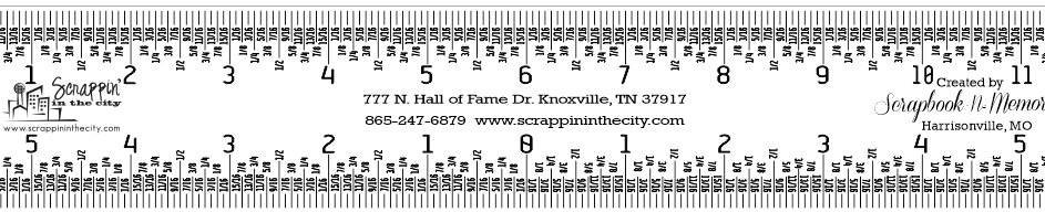 The Crafter's Essential RULER - 12 clear SITC