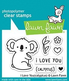 Lawn Fawn Clear Stamps 3X2 I Love You(calyptus)