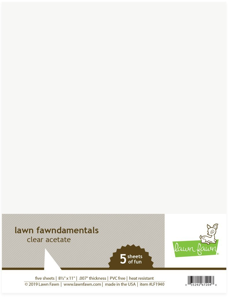 Lawn Fawn Acetate 8-1/2 x 11/5 sheets