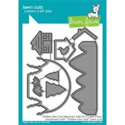 Lawn Cuts Custom Craft Die Shadow Box Card Mountain Add-On