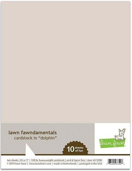 Lawn Fawn Fundamentals Cardstock Dolphin 10/pk 8.5x11