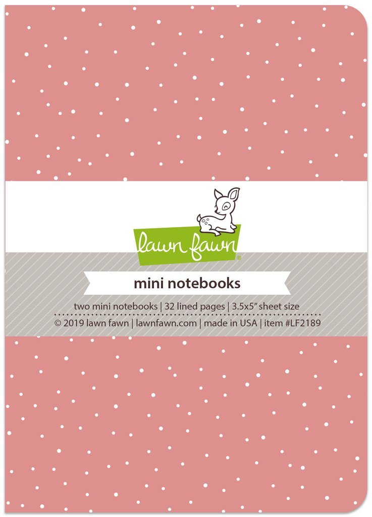 Lawn Fawn Mini Notebooks-Pretty In Pink