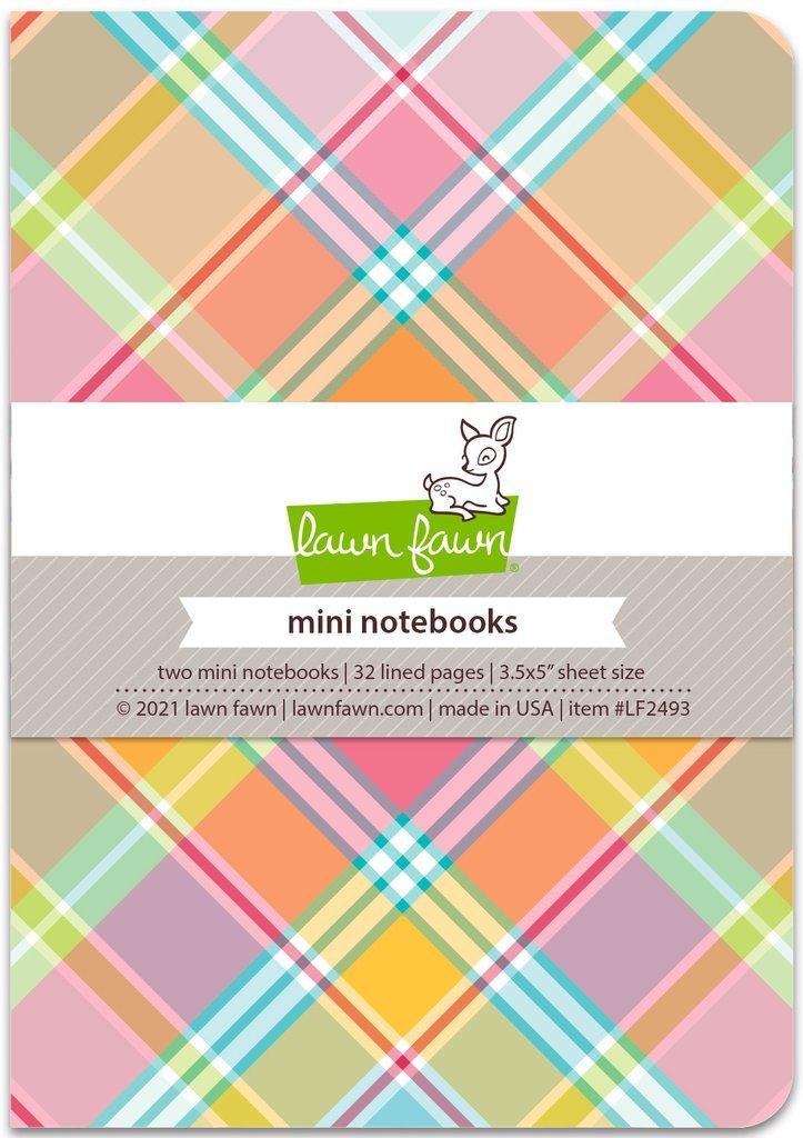 Lawn Fawn Mini Notebooks 3.5X5 2/Pkg Perfectly Plaid Remix