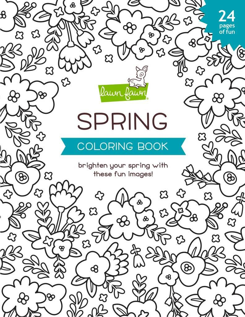 Lawn Fawn Spring Coloring Book