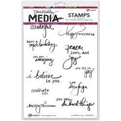 DINA WAKLEY Media Cling Stamps 6X9: Just What To Say
