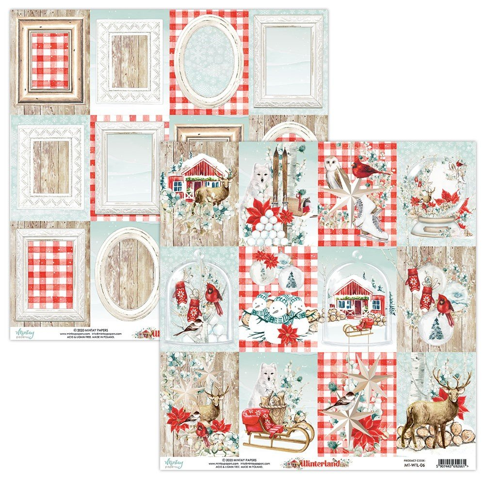 Mintay Papers-Double Sided Cardstock 12x12 -Winterland 06