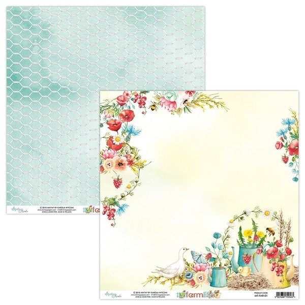 Mintay Papers- FARMLIFE 01- 12X12 Double Sided Cardstock