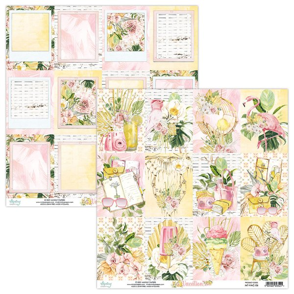 Mintay Papers- VACATION 06- 12X12 Double Sided Cardstock