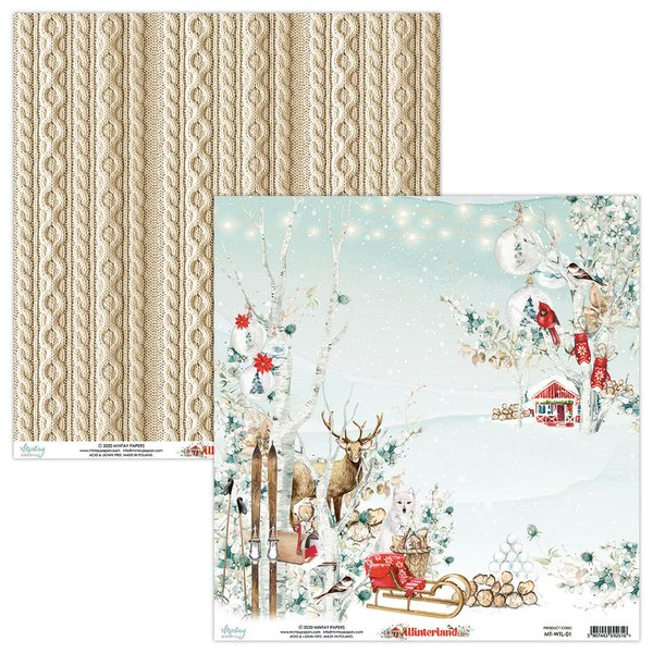 Mintay Papers-Double Sided Cardstock 12x12 -Winterland 01