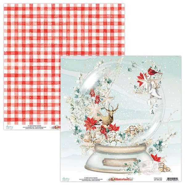 Mintay Papers-Double Sided Cardstock 12x12 -Winterland 02