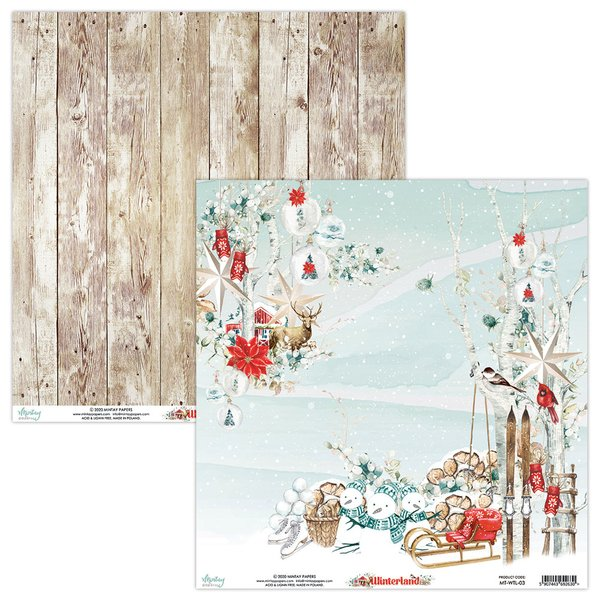 Mintay Papers-Double Sided Cardstock 12x12 -Winterland 03