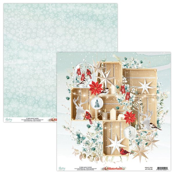 Mintay Papers-Double Sided Cardstock 12x12 -Winterland 04