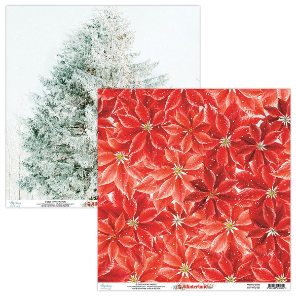 Mintay Papers-Double Sided Cardstock 12x12 -Winterland 05