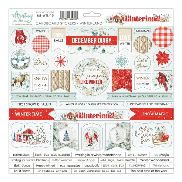Mintay Papers- 12x12 Cardboard Stickers - Winterland-10