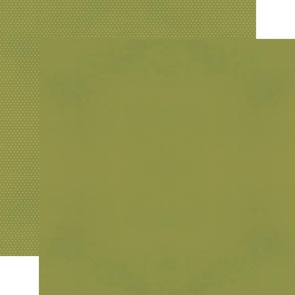 Simple Stories Color Vibe Olive Double-Sided Cardstock 12X12
