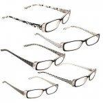 DEI Designer Reading Glasses Black & White Chicken Wire