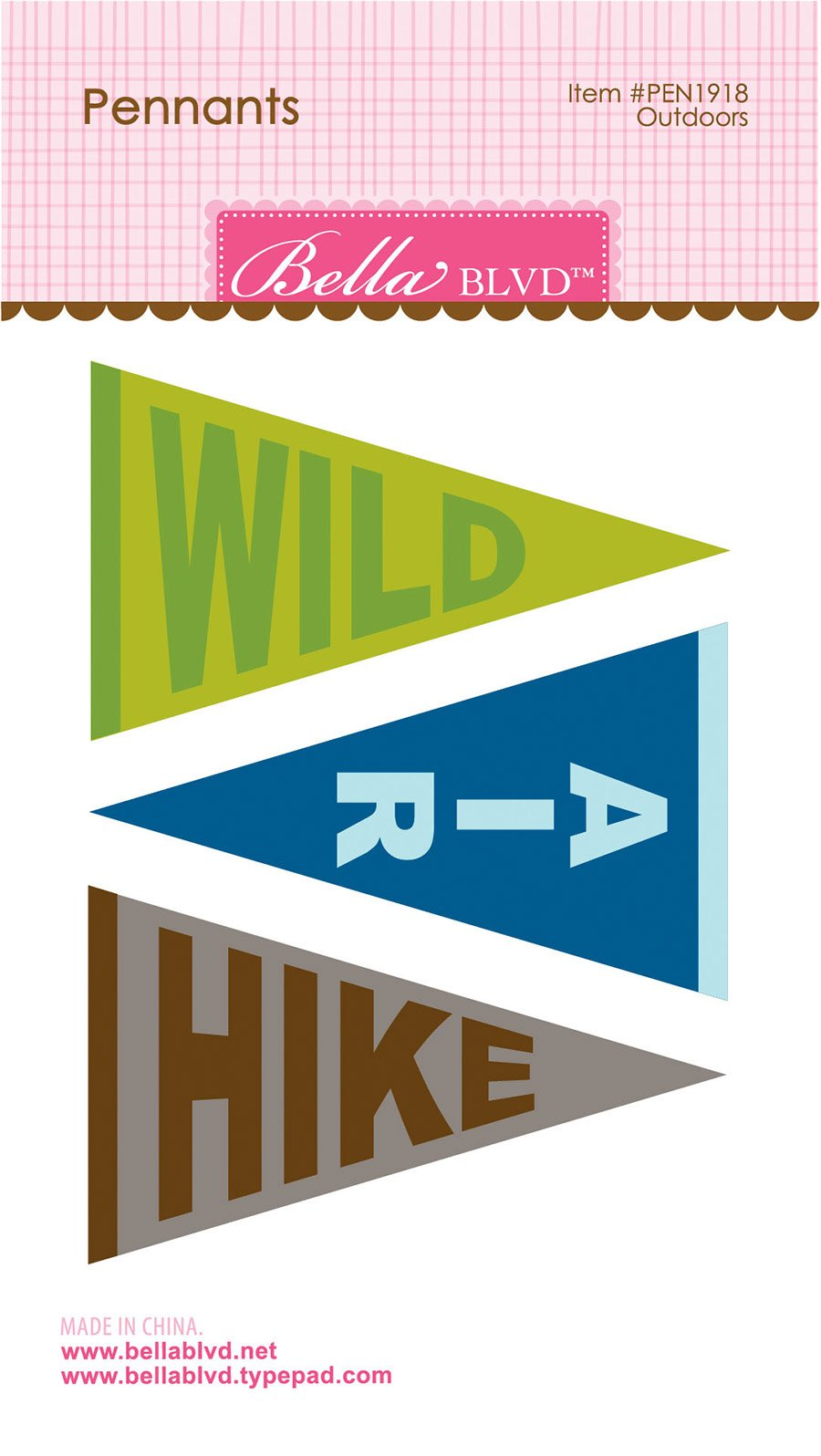 BB Let's Go On An Adventure Outdoor Pennants
