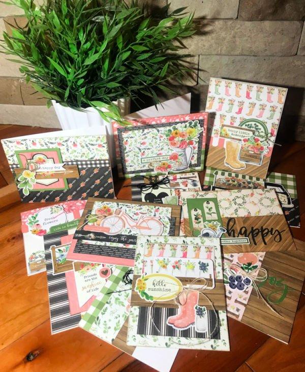 Vive la Scrap Crop:  Rustic Card Class