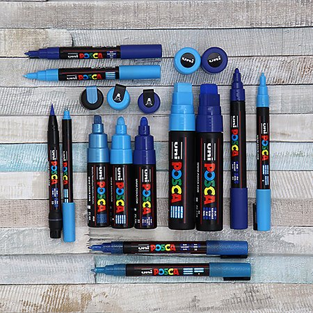 POSCA Paint Markers, PC-1MR Extra-Fine, White