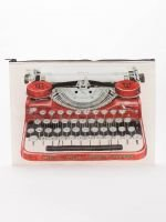 Blue Q: JUMBO POUCH-Typewriter