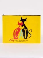 Blue Q: JUMBO POUCH-Cats. Slightly Obsessed...