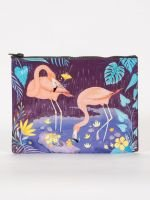 Blue Q: FLAMINGO ZIPPER POUCH
