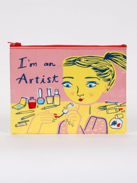 Blue Q:  ZIPPER POUCH-I'm An Artist