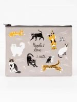 Blue Q: PEOPLE I LOVE: CATS ZIPPER POUCH
