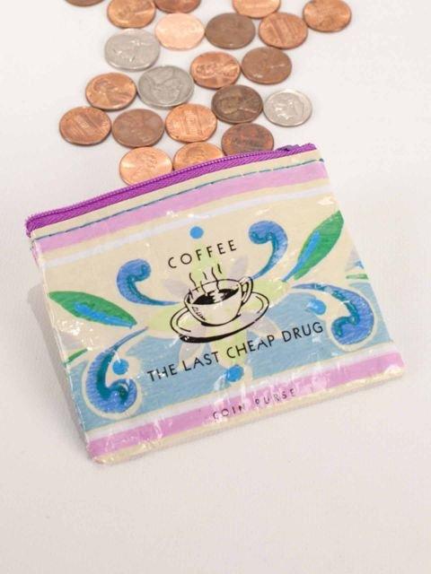 Blue Q:  COIN PURSE-Coffee Money