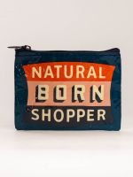 Blue Q:   NATURAL BORN SHOPPER COIN PURSE