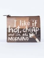Blue Q: I LIKE IT HOT, CHEAP AND IN THE MORNING COIN PURSE
