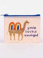 Blue Q:  COIN PURSE-You're Double Wonderful