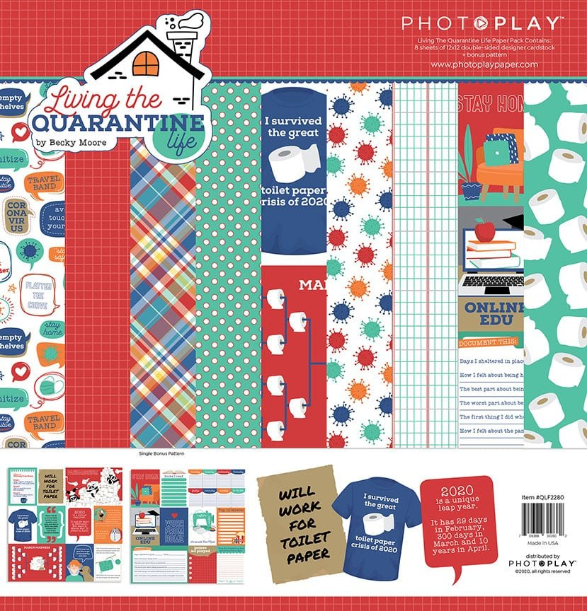 Photo Play Living the Quarantine Life Paper Pack *pre-order*