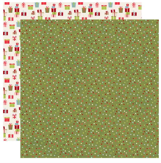 Simple Stories Holly Jolly Double-Sided Cardstock 12X12 Seasons Greetings