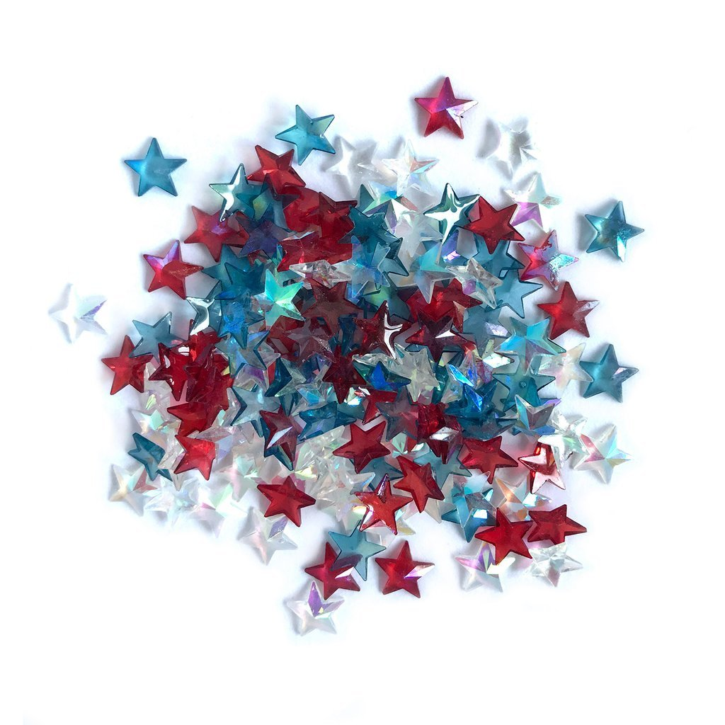 BG&M: Sparkletz Embellishments Patriotic Stars