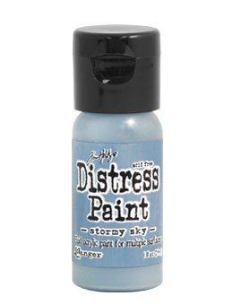 Tim Holtz Distress Paint Flip Top 1oz Stormy Sky