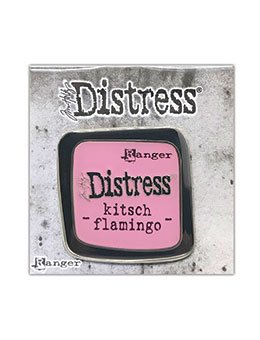 Tim Holtz Distress Enamel Collector Pin- Kitsch Flamingo