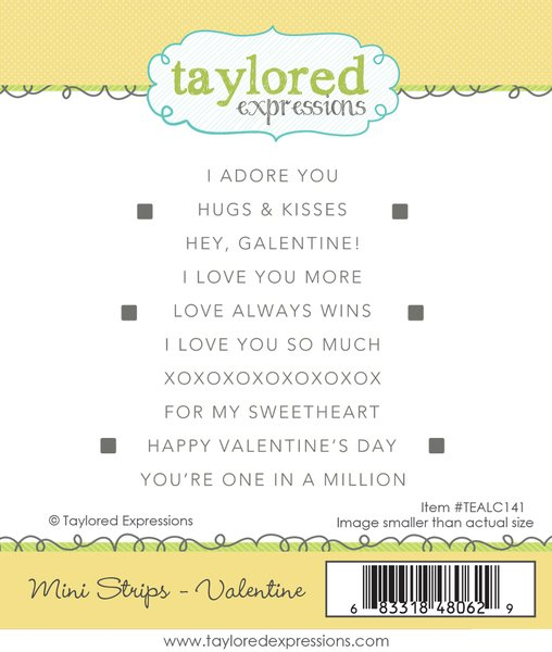TAYLORED Expressions Stamp: Mini Strips Valentines