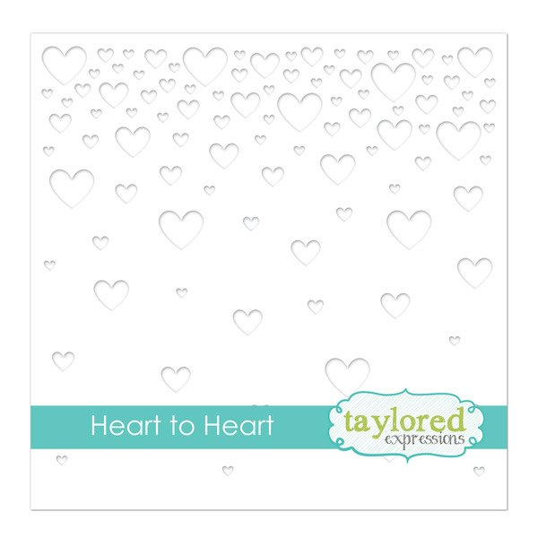 Taylored Expressions Stencil-Heart To Heart