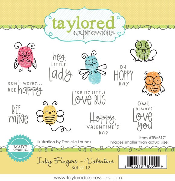 TAYLORED Expressions Stamp: Inky Fingers-Valentines