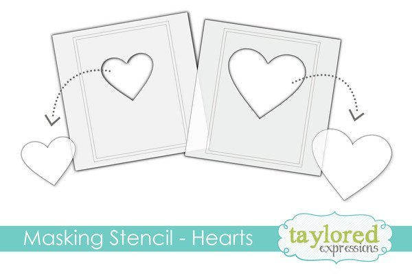 Taylored Expressions Masking Stencils - Hearts