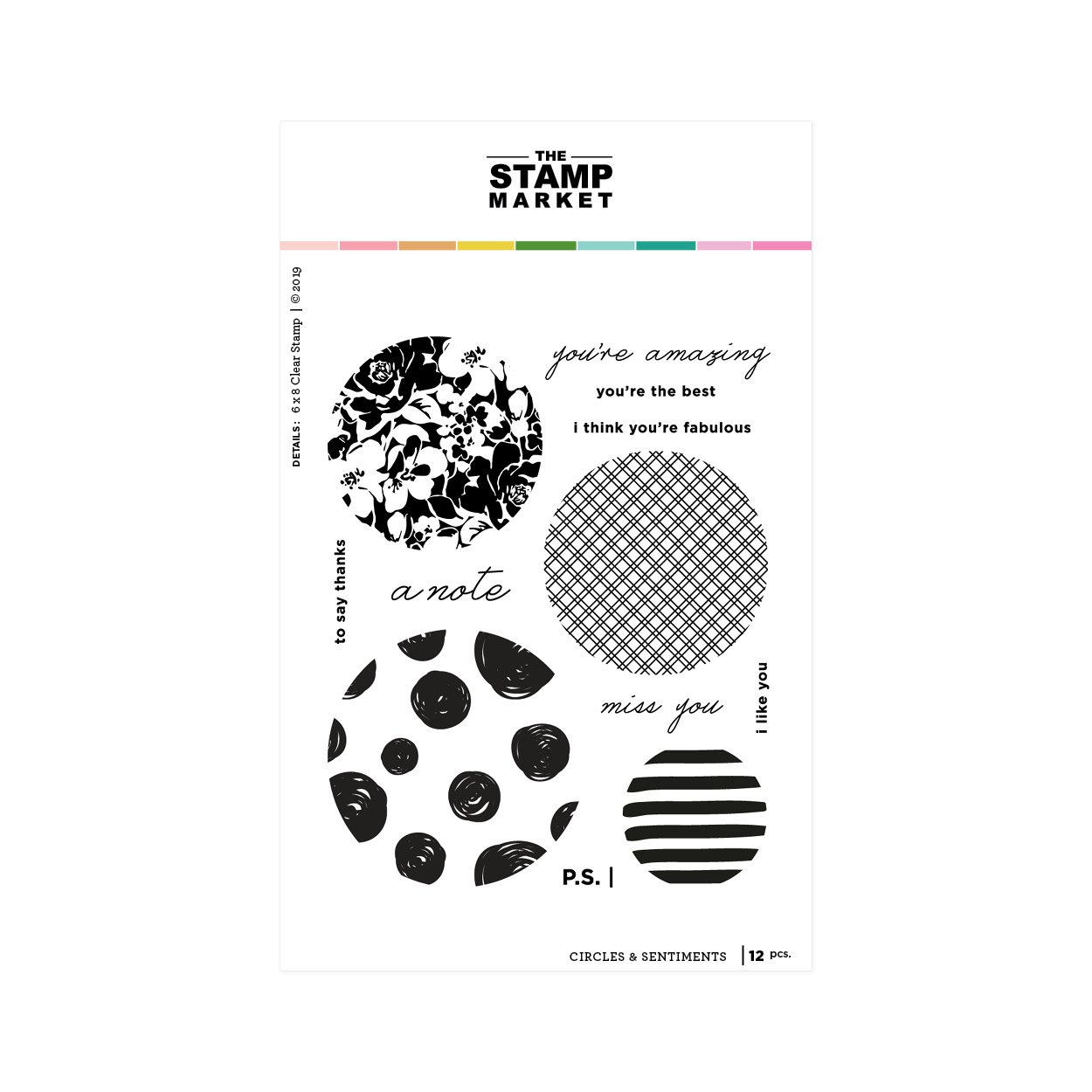 The Stamp Market Clear Stamps: Circles & Sentiments