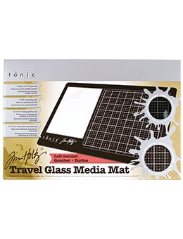 Tim Holtz Travel Glass Media Mat- LEFT Handed