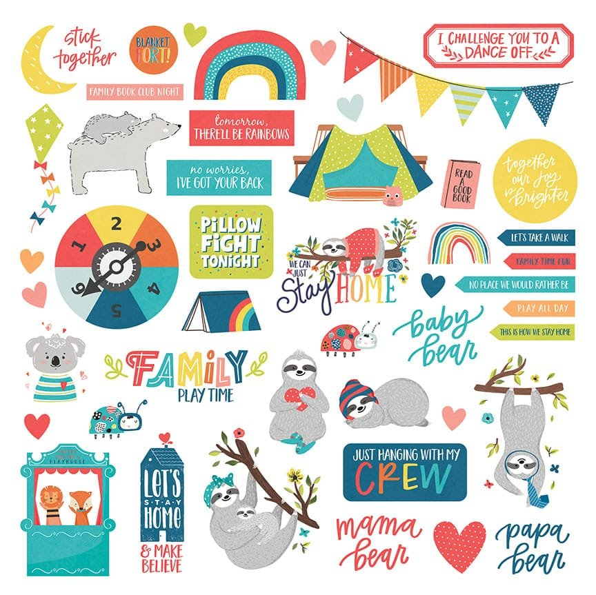 Photo Play We Can Just Stay Home Element Stickers