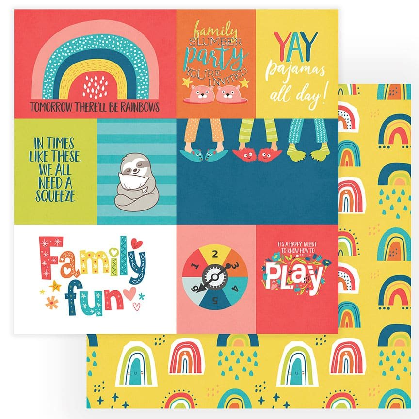 Photo Play We Can Just Stay Home Family Fun DS Paper *pre-order*