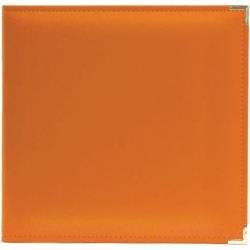 We R Classic Leather D-Ring Album 12X12: Orange Soda