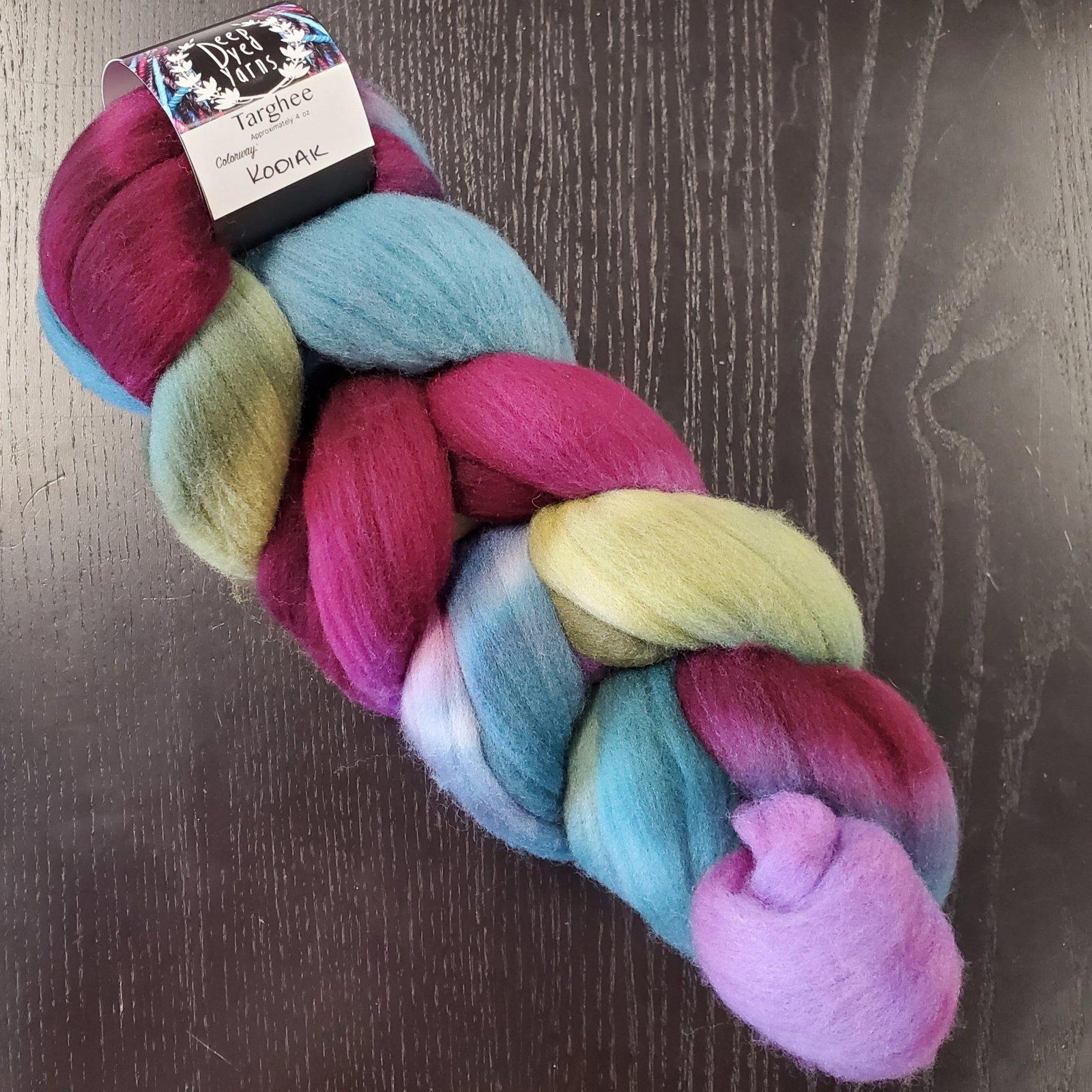 Deep Dyed Yarns Targhee Fiber