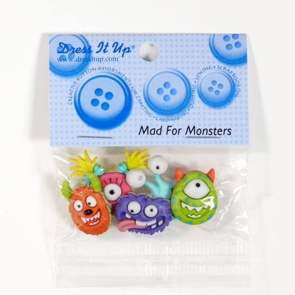 Mad for Monsters Buttons